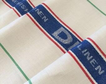 Vintage Irish Linen Tea Towel Fabric