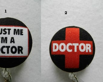 Medical Symbols~Doctor~ Fabric Retractable Badge Holder Reel, ID Name Holder,Security tag holderl