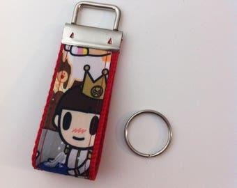 Custom key fob in Tokidoki Fairytella