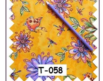 cotton coupon printed their purple 40 cm x 80 cm