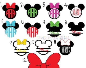 Mickey and Minnie Decal