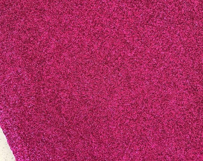 NEW Fuchsia Pink Fine Glitter Fabric Sheet Thin 0.6mm A4 or A5 Sheet Fine Pink Glitter Fabric A4 Sheets