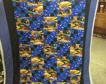 Twin  size ford tractor quilt