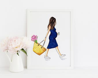 The Baby Bump (Fashion Illustration Print)