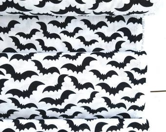 Eat Drink and Be Scary - Bats (White Background) - Whistler Studios - Windham Fabrics