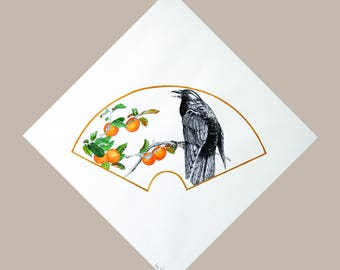 Painting Crow and Persimmons