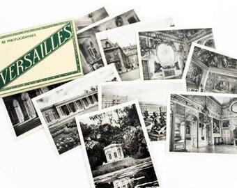 Français beaucoup, Versailles Photo, Photo Vintage Photo Album, carte postale Vintage Lot, Souvenirs de voyage, photographie d'époque, E163 impression Versailles