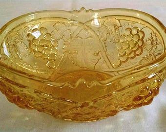 Vintage Yellow Glass Bowl