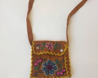 Small Mexican Emroidered Shoulder Purse Vintage