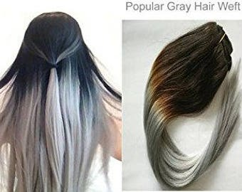 Grey hair extensions etsy halo magic wire human hair extensions 100 pmusecretfo Choice Image