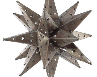 "Moravian Star Light, Star Pierced Tin, Bronze, 15"""