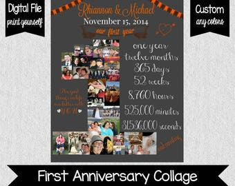 One Year Anniversary File - Our First Year - Anniversary - Gift Ideas - Custom - Wedding Anniversary - One Year - Love - DIGITAL