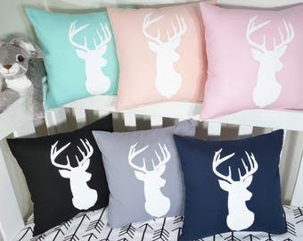 Deer head silhouette cushion