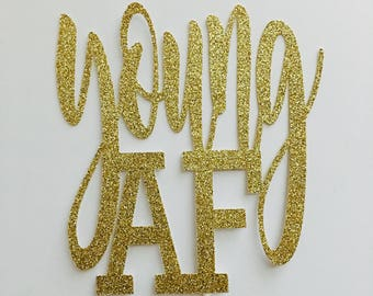 AF young cake topper - gold - cake topper - age cake topper #32340