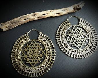 earrings *sacred geometry big*