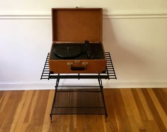 Vintage Record Player Storage Stand Free Shipping