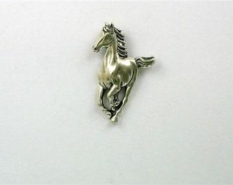 Sterling Silver Running Horse Pendant