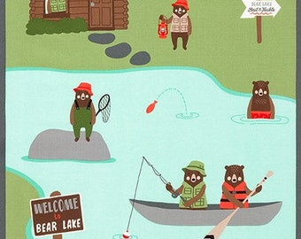 Lake Brawny Bears Panel (COTTON) by Robert Kaufman