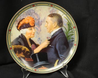 "Norman Rockwell Collector Plate ""Love's Reward"" 8th (and final) in the ""Rockwell's American Dream"" Series  1987"