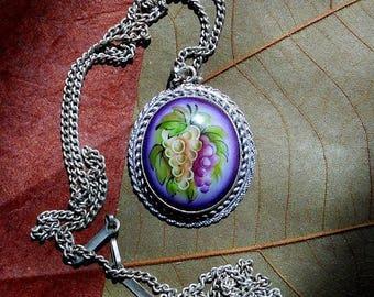 Oval Grape Pendants Wholesale Lot of 10  Russian Enamel Jewelry