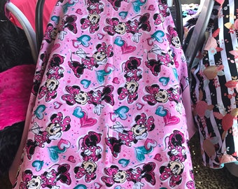 Minnie Car seat  Canopy/blanket 2 in 1