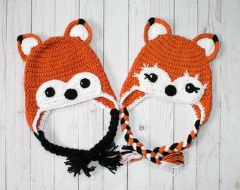 Crochet Fox Hat| Crochet Hat Pattern| Crochet Fox| Fox Hat| Crochet Hat| Crochet Foxy Hat| Crochet Girl's Hat| Crochet Boy's hat