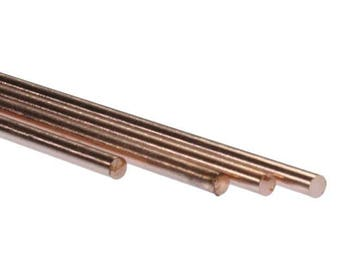 "Copper round rod 12"" long 3/32"" od (2 cards of 4 ea)(CRWR11)"