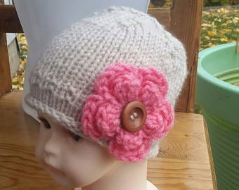 Baby Hat, Free Shipping Baby Hat, Baby Beanie, knit Infant, Pink Hat, Baby girl, Infant Baby Hat, Baby Hat Beanie, Newborn Hat, Baby Beanie