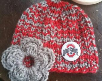 Ohio State, Baby, Infant Ohio State University, Infant, Ohio State Hat, Ohio State Baby Hat, Infant Boy girl Hat, Baby Hat, Baby photo prop