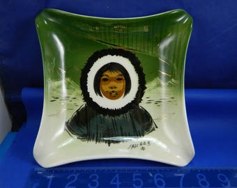 Sasha Brastoff Eskimo Dish - Excellent Condition