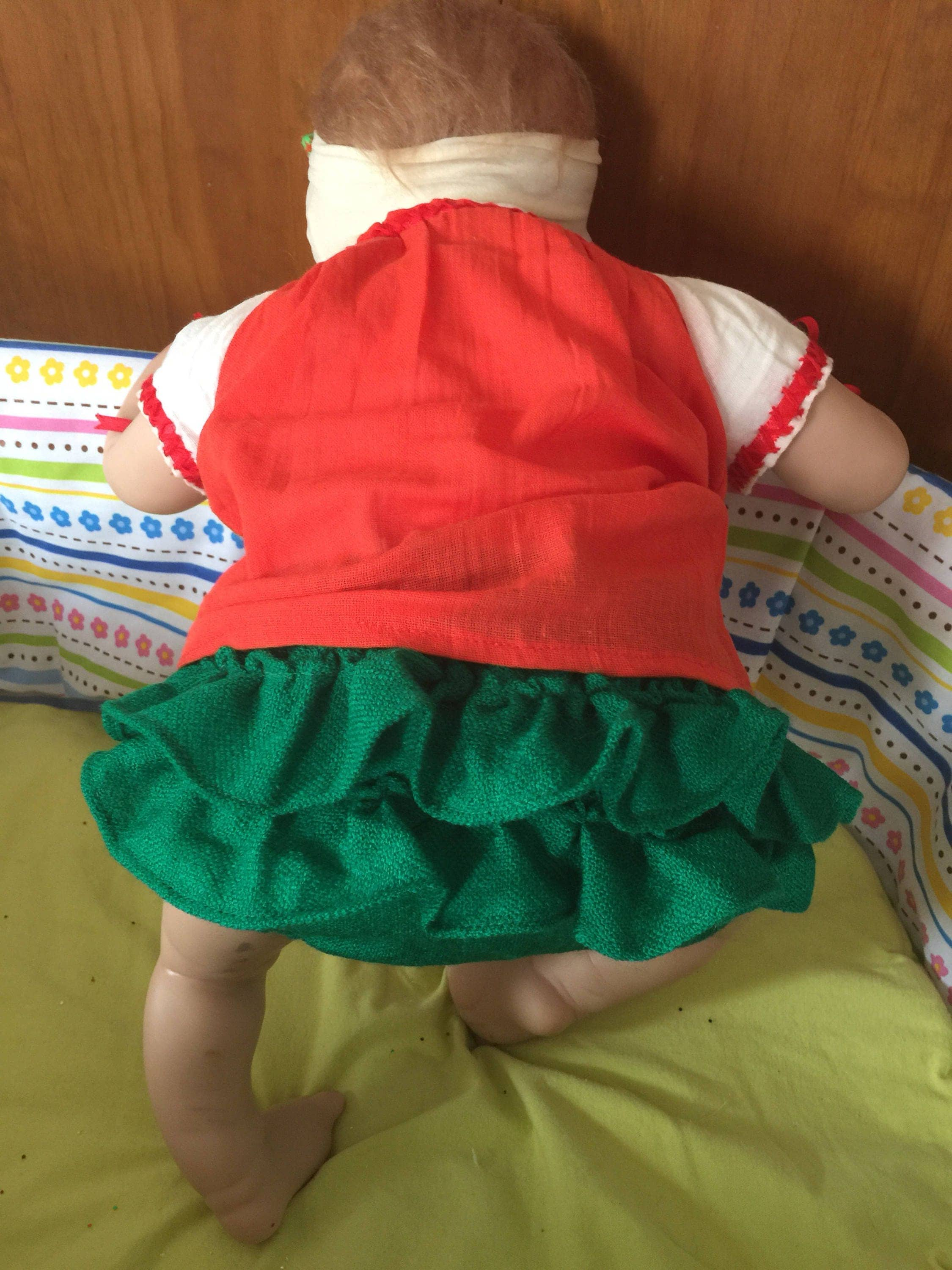 Beautiful Mexican baby set Mexican Blouse embroidered by hand  Baby headband   bloomers. 30562739ba7