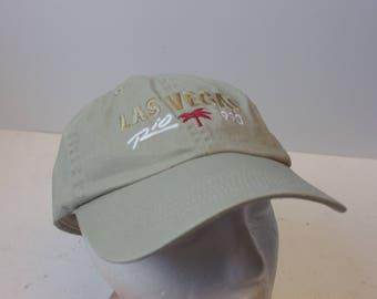 1990 Las Vegas Rio low profile leather strap hat cap