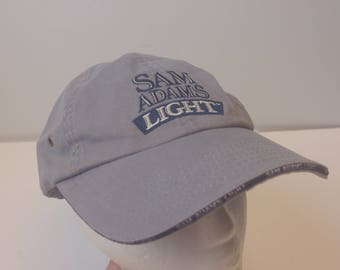 Sam Adams Light hat cap vintage retro low profile