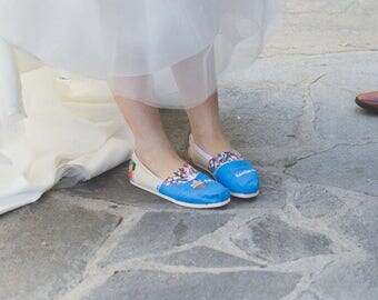 disney up themed wedding shoes
