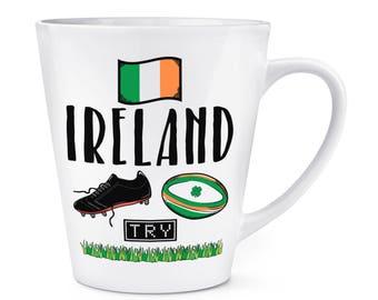 Rugby Ireland 12oz Latte Mug Cup