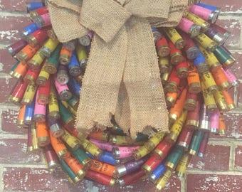 Confetti Shotgun Shell Wreath