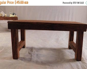 SALE Rustic Medieval Table Dollhouse Miniature 1:12 Scale Artist Made Witch Wizard Halloween
