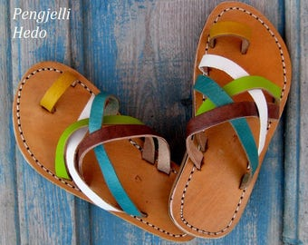 Sandals barefoot size 27 leather for girl