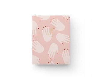 """Pocket Notebook Hands – Reliure à plat Lay-Flat – 5,75"""" x 8"""" – Pages lignées"""