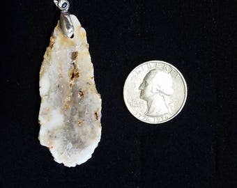 Geode Sterling Silver Pendant
