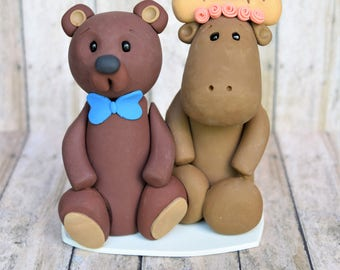 Animal Cake Topper Wedding Bride And Groom