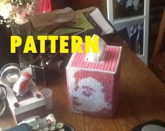 Audrey Hepburn Plastic Canvas Tissue Box Pattern