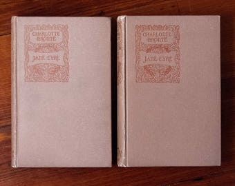 JANE EYRE by Charlotte Bronte. RARE 1893 J.M. Dent & Company (London) edition (in two volumes)