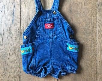 Vintage Baby Oshkosh Overalls / Romper - 3-6 months - rare!