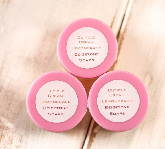THREE POD PACK Cuticle Cream Lemongrass   All Natural   10 gram (.35oz) Pod   Heals Cuticles, Moisturized Nails, Medicates Irritated Skin