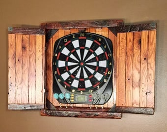 Dartboard Cabinet   For Small Electronic Dartboard   MADE TO ORDER