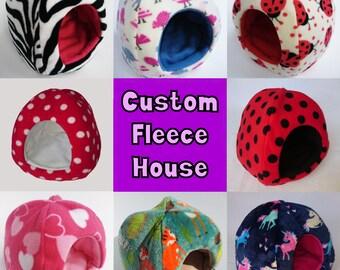 CUSTOM Fleece House, Guinea Pig House, Guinea Pig Hidey, Gift for Pet Lover, Custom Made, Made to Order, Guinea Pig, Hedgehog, Degu, Rat