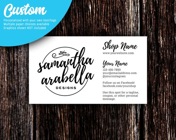 Business cards pointed corners custom personalized like this item reheart Image collections