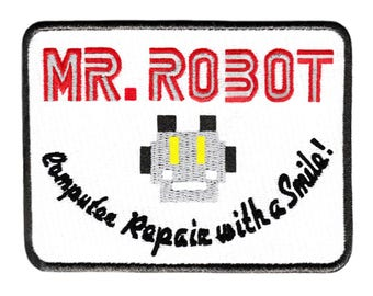 Awesome Large Mr. Robot Patch 10cm fsociety Badge for Shirt Hat Cap Jacket 4 inch x 3 inch Applique