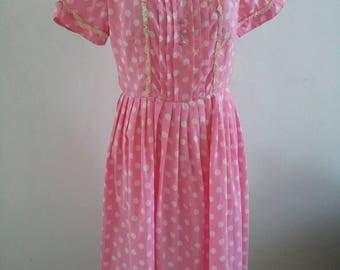 vintage 60s spot  dress